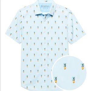 Banana Republic Luxe Stretch Pineapple Shirt
